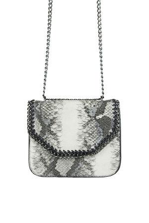 STELLA Black Python Chain Shoulder Bag