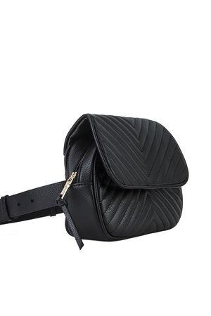 JESSICA Black Quilted Belt Bag