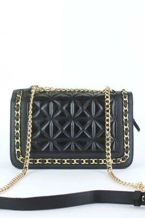BLAKE Black Quilted Chain Bag