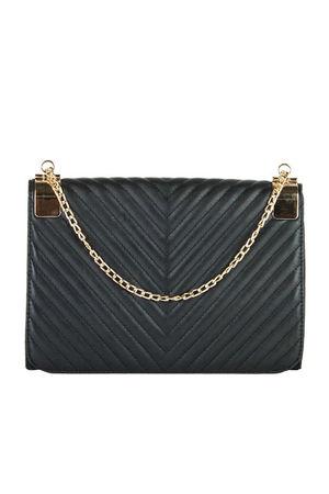 EMMA Black Quilted Shoulder Bag