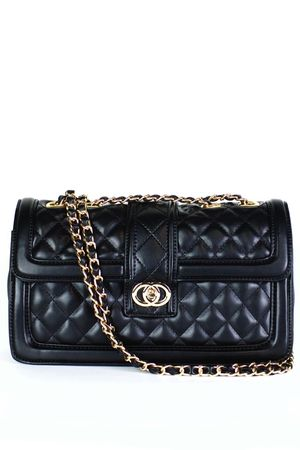 ORLA Black Quilted Shoulder Bag