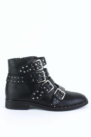PARIS Black Buckle Ankle Boot