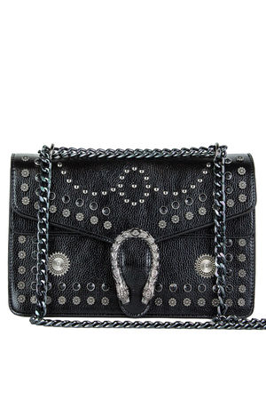 Black-Stud-Chain-Shoulder-Bag