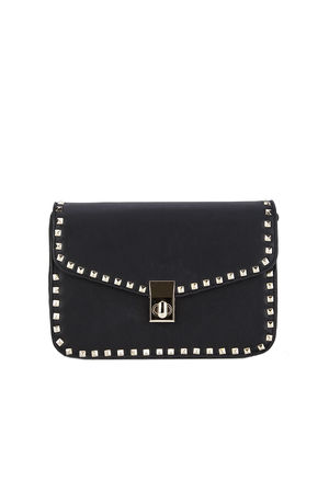MARCELLA Black Stud Detail Handbag