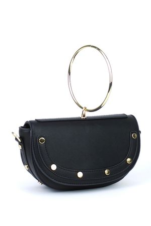 LOLITA Black Half Moon Bag