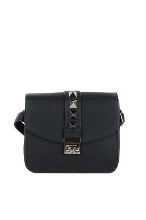 LUCHIA Black Stud Cross Body Shoulder Bag
