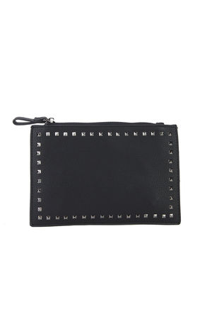 NADIA Black Stud Clutch Bag