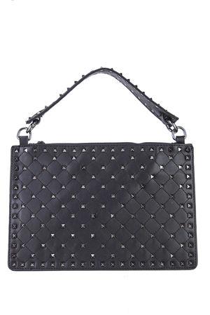VIOLET Black Stud Handbag