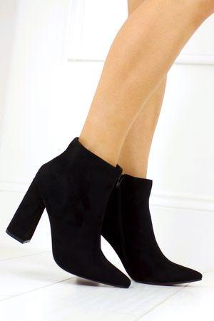 MONICA Block Heel Ankle Boot