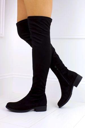 SIAN Black Over Knee Boot