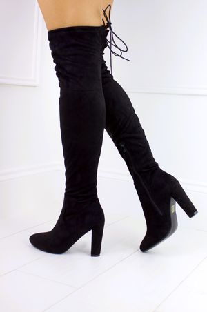 TAYLOR Black Over Knee Boots