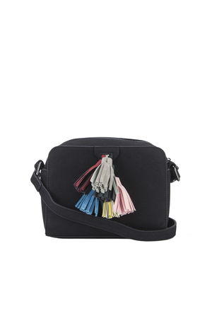 HAILEY Black Tassel Shoulder Bag