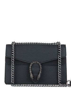 KAYLEIGH Black Tiger Chain Shoulder Bag