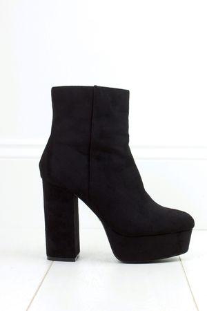 LARA Black Platform Ankle Boot