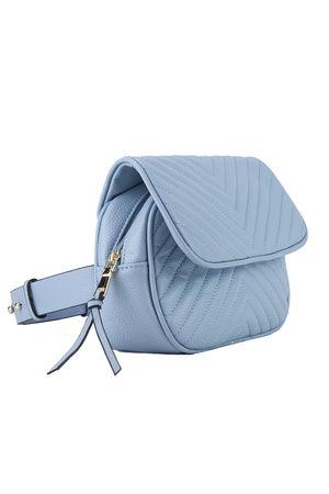 JESSICA Blue Quilted Belt Bag