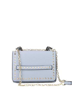 LILA Blue Snake Chain Shoulder Bag