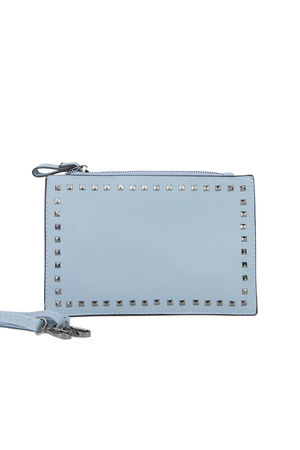 NADIA Blue Stud Clutch Bag