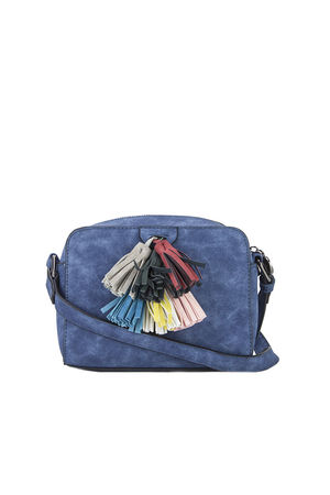 HAILEY Blue Tassel Shoulder Bag