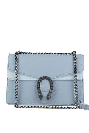 KAYLEIGH Light Blue Tiger Chain Shoulder Bag