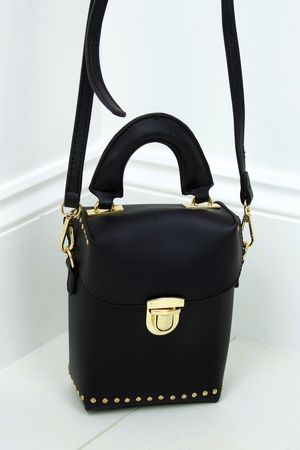 BOBBIE Black Micro Box Bag