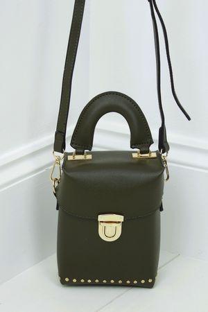 BOBBIE Khaki Micro Box Bag