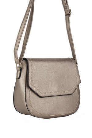 KARA Bronze Cross body Bag with Gold Detail