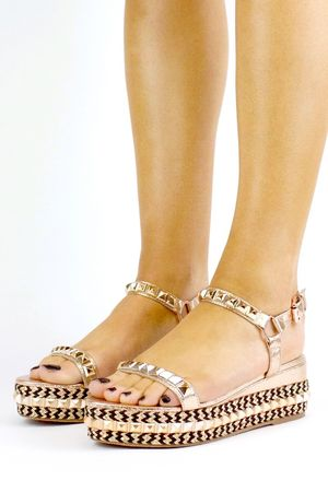 BROOKE Rose Gold Stud Flatform