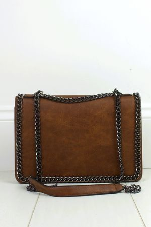 ROSIE Brown Chain Shoulder Bag
