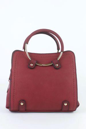 CARLA Burgundy Shoulder Bag