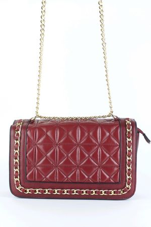 BLAKE Burgundy Quilted Chain Bag
