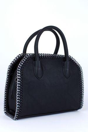 CALISTA Black Chain Tote Bag