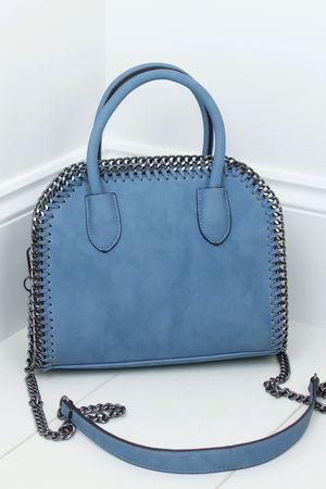 CALISTA Blue Chain Tote Bag