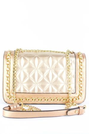 BLAKE Champagne Quilted Chain Bag