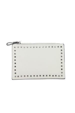 NADIA Beige Stud Clutch Bag
