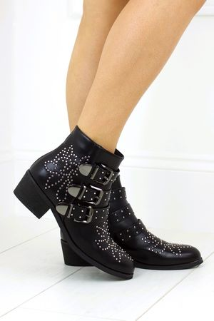 DANI Black Buckle Ankle Boot