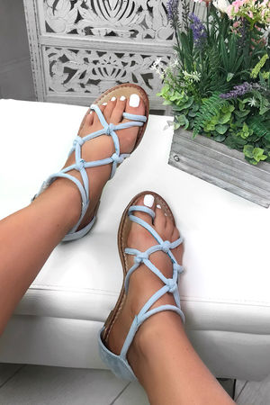EMILY Blue Rope Sandals