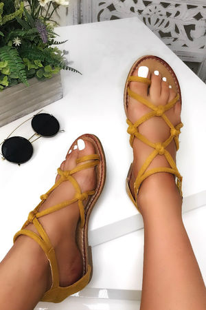 EMILY Yellow Rope Sandals