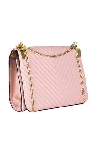 EMMA Pink Quilted Shoulder Bag