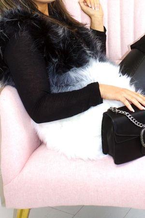 ALEXANDRA Black Ombre Faux Fur Gilet