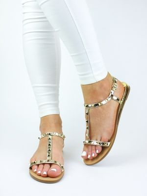 IVY Gold Stud Sandals