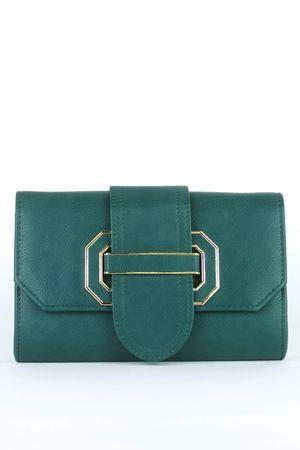MARNIE Green Clutch Bag