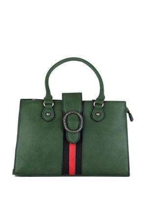 LIZA Green Emblem Shopper Bag