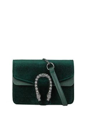 HEIDI Green Tiger Shoulder Bag With Chain Strap