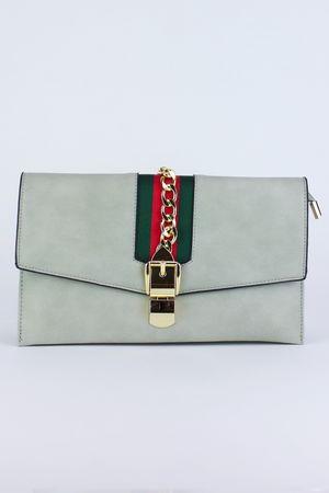 CARA Grey Clutch Bag