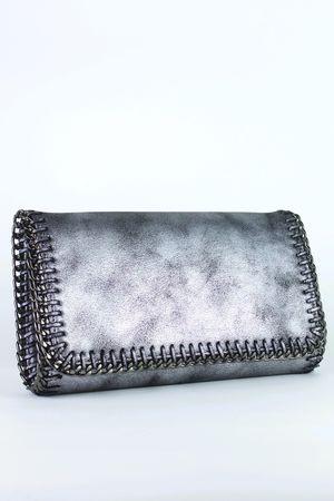 DIONNE Grey Chain Clutch Bag