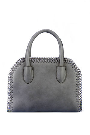 CALISTA Grey Chain Tote Bag