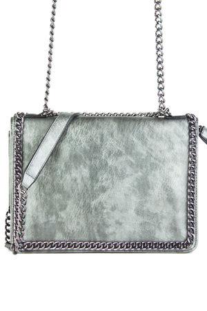 ROSIE Grey Chain Shoulder Bag
