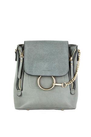 LEXI Grey Chain Backpack