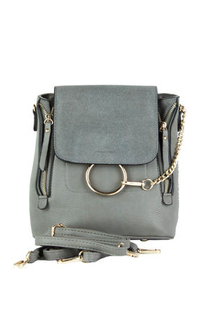 LEXI Grey Chain Backpack
