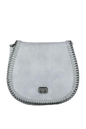 CARNEY Grey Chain Detail Shoulder Bag